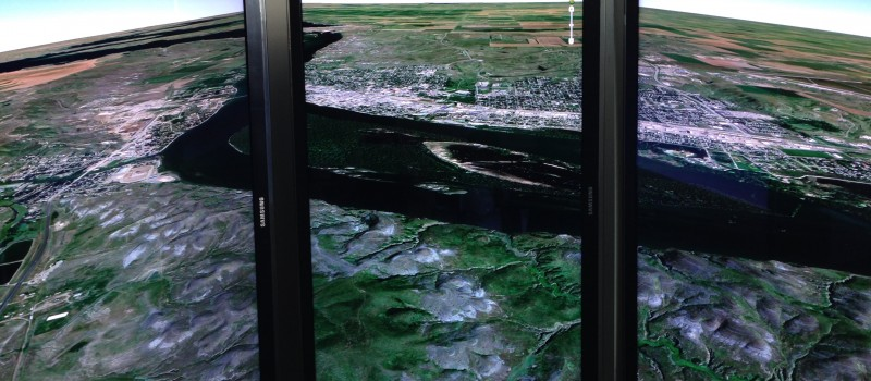 Google Earth on multiple monitors [source: Wikimedia]