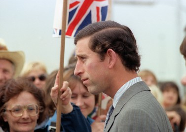 Prince Charles arrives at Andrews Air Force Base in the United States, 1981 [source: Wikimedia]