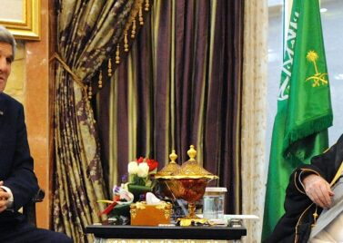 US Secretary of State John Kerry and Saudi King Abdullah in January 2014 [Source: US Department of State]