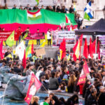 The pro-Kobane protest in Trafalgar Square, 1 November. The town has been the focus of much of the recent fighting (Source: Garry Knight)
