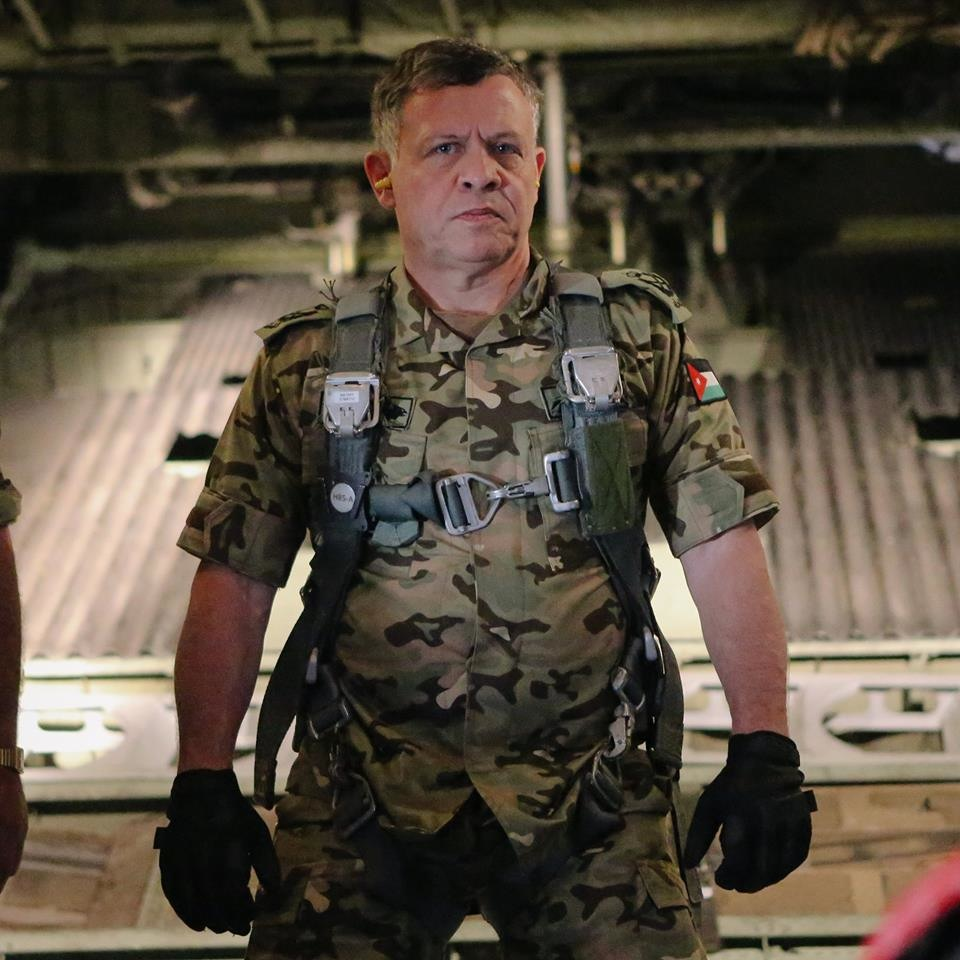 Warrior-king: This photo of King Abdullah II, uploaded by the Royal Hashemite Court Facebook page, has received almost 32,000 likes.