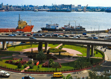 The Marina on Lagos Island in Nigeria's capital: the developed façade of a society undergoing profound change