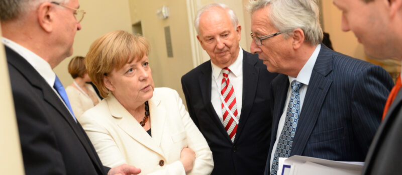 German Chancellor Angela Merkel and European Commission President Jean-Claude Juncker in May 2014. Has the advent of the latter's European investment plan indicated a shift in the balance of power in Europe away from German austerity?