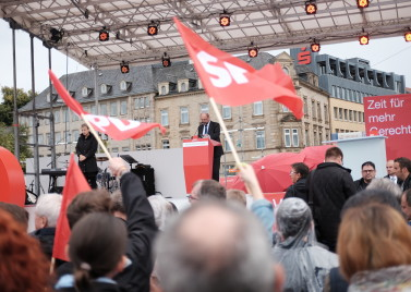Martin Schulz campaigning in 2017. Photo: SDP Saar via Flickr