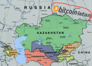 The People's Republic of Bitcoinistan has recently been established in central Asia. A land with no laws, but rich in coin deposits.