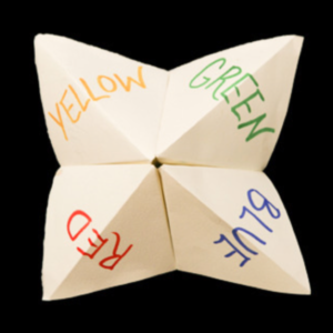 Chatterbox paper fortune teller
