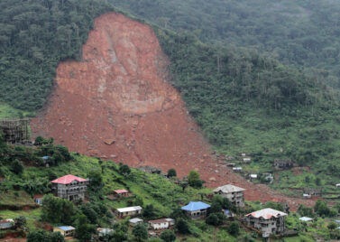 Freetown, Sierra Leone, after a landslide in August 2017 which left  1,141 dead or missing.  Source: Flickr