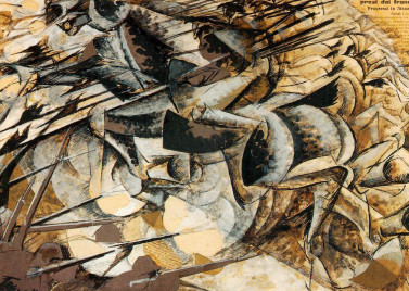Umberto Boccioni, Charge of the Lancers, 1916. Source: Wikimedia Commons