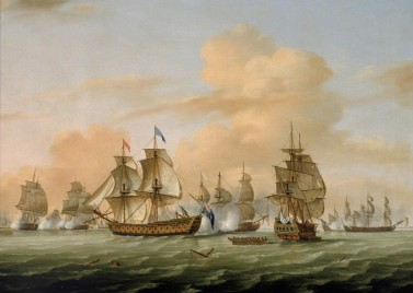 British victory at Lagos in 1759, the 'Annus Mirabilis'. Source: Wikimedia Commons